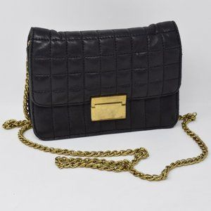 J Crew Quilted Leather Mini Purse Crossbody Bag